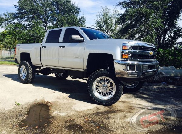 """2015 SILVERADO 2500HD   CST 8-10"""" (set at 8.5 with 37s on 22x10s)"""