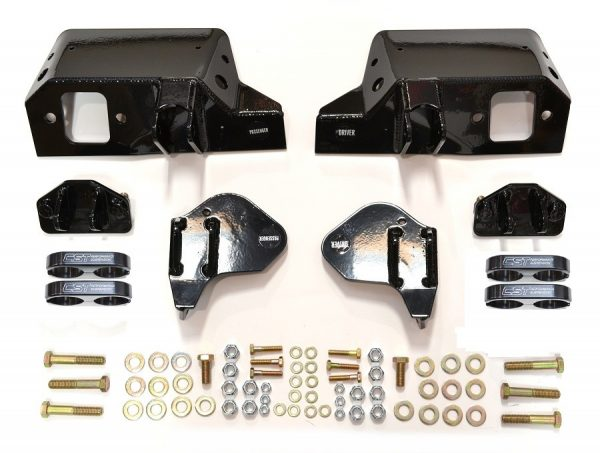 DUAL SHOCK BRACKETS | 2011+ GM 2500HD | BLACK CLAMPS*