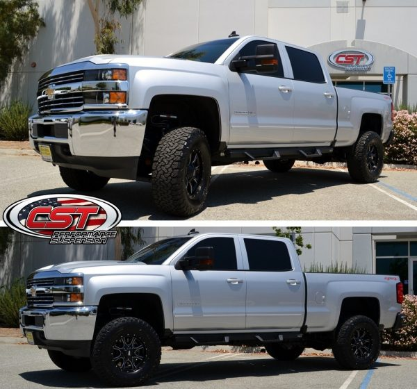 "S.T.L. High Clearance LIFT KIT | 2017 2500HD | 3-6"" STAGE 4 set at 5 with 35s on 17s and added res. mounts."