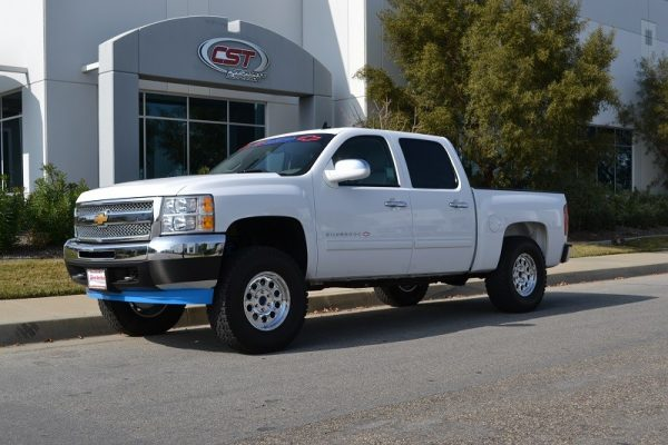 "2007-2013 SILVERADO / SIERRA 1500 2WD - 3.5 to 5.5"" SPINDLE KIT (SHOWN AT 5.5"" OF LIFT W/ 315/70/17 TIRES ON 8"" WIDE WHEELS)"